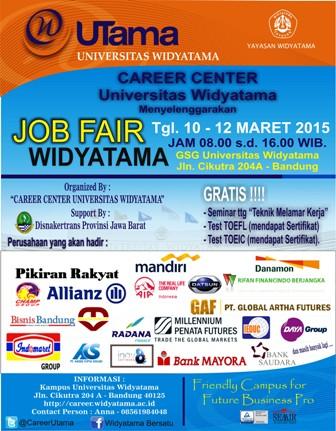 Job Fair Universitas Widyatama 2015