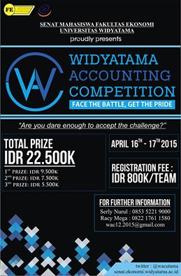 Widyatama Accounting Competition 2015