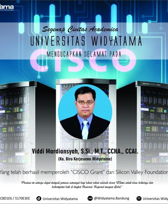 Dosen Widyatama memperoleh CISCO Grant