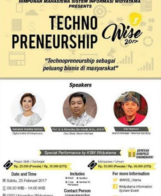 Seminar Widyatama Information System Event (WISE 2017)
