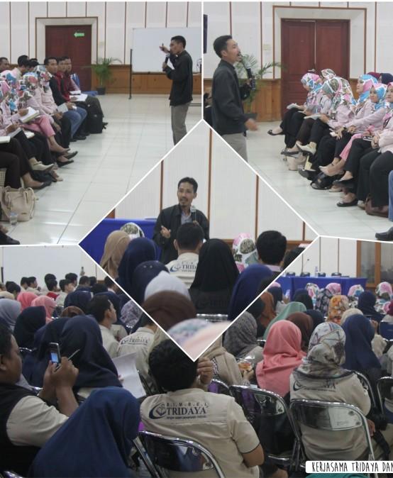 Menjajakan kerjasama dengan Bimbel Tridaya Bandung
