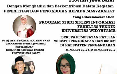 Penelitian Dan Pengabdian Kepada Masyarakat Prodi Sistem Informasi Universitas Widyatama