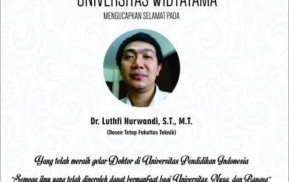 Dosen Widyatama Peraih Gelar Doktor di Universitas Pendidikan Indonesia