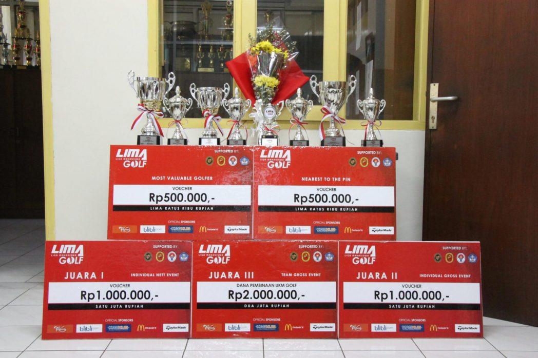 Piala dan penghargaan dari LIMA golf