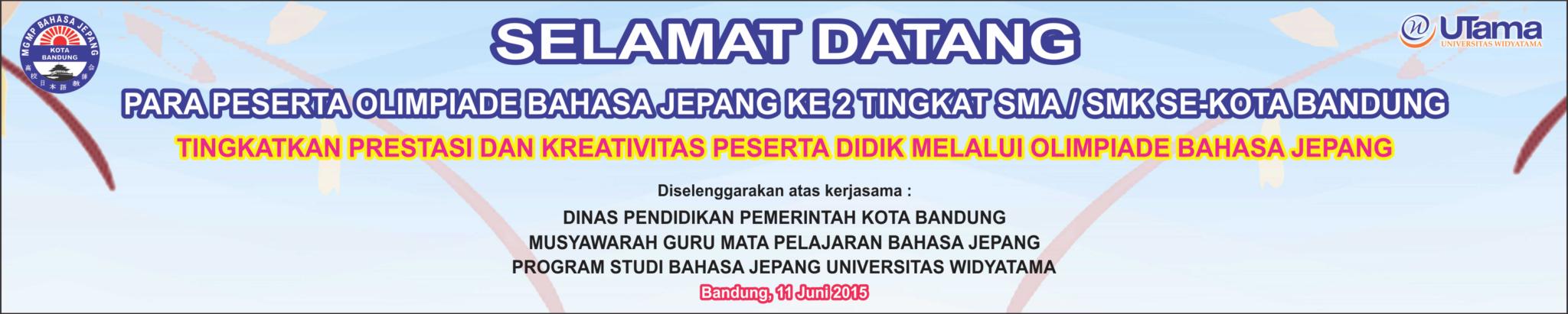 Acara MGMP - Olimpiade Bahasa Jepang Ke-2 Tingkat SMA/SMK Se-Kota Bandung