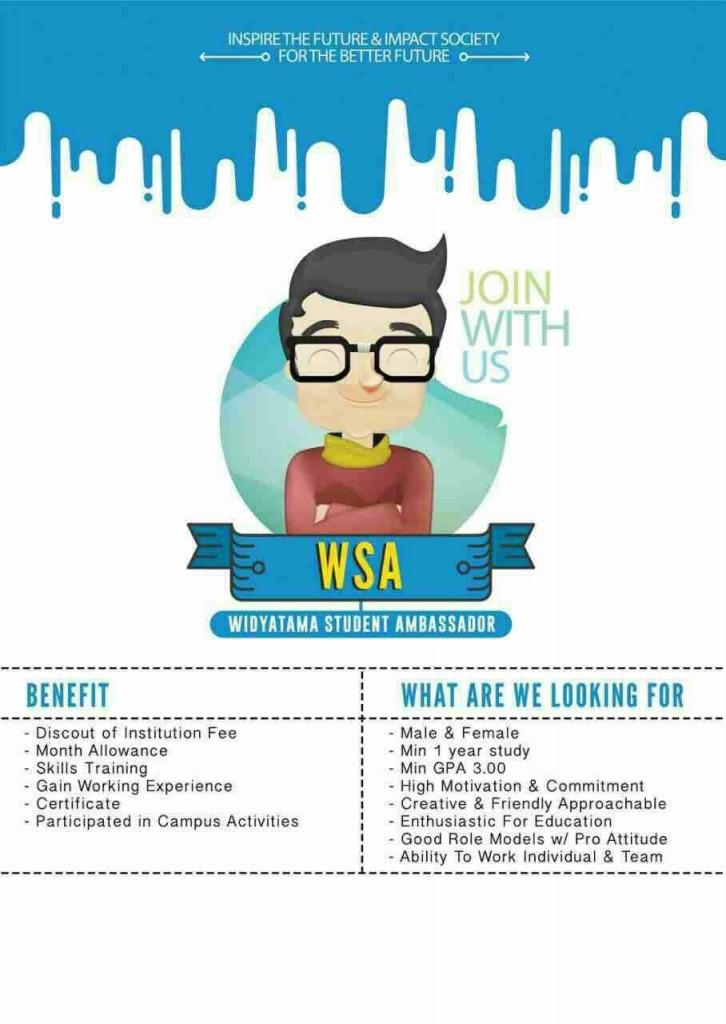 Open Recruitment Widyatama Student Ambassador (WSA)