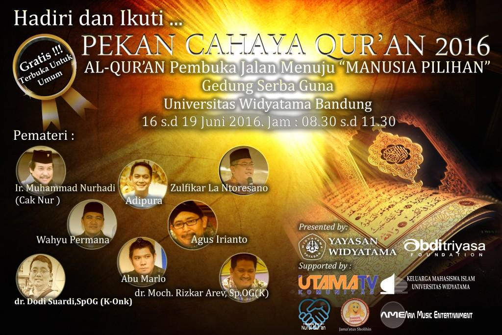 Pekan Cahaya Qur'an Widyatama, Abu Marlo, Adipura, Universitas Widyatama, Bulan Ramadhan Widyatama