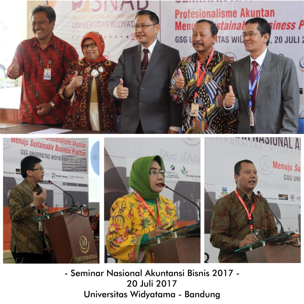 Fakultas Ekonomi Widyatama dengan IAI Jawa Barat Selenggarakan Seminar Nasional Akuntansi Bisnis