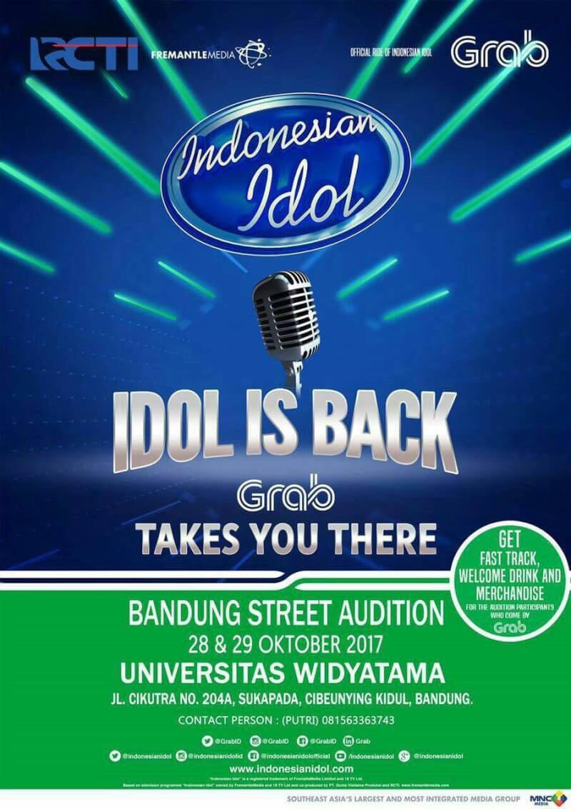 Indonesian Idol Grab Street Audition Hadir di Universitas Widyatama