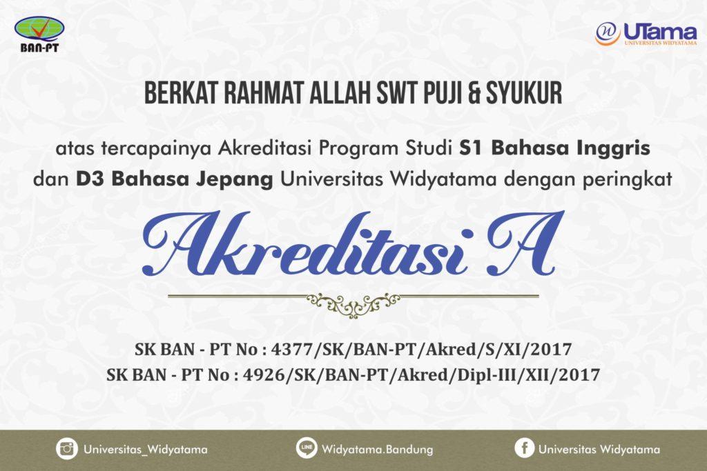 Fakultas Bahasa Widyatama Berikan Kado Istimewa Pada Milad Yayasan Widyatama ke 45