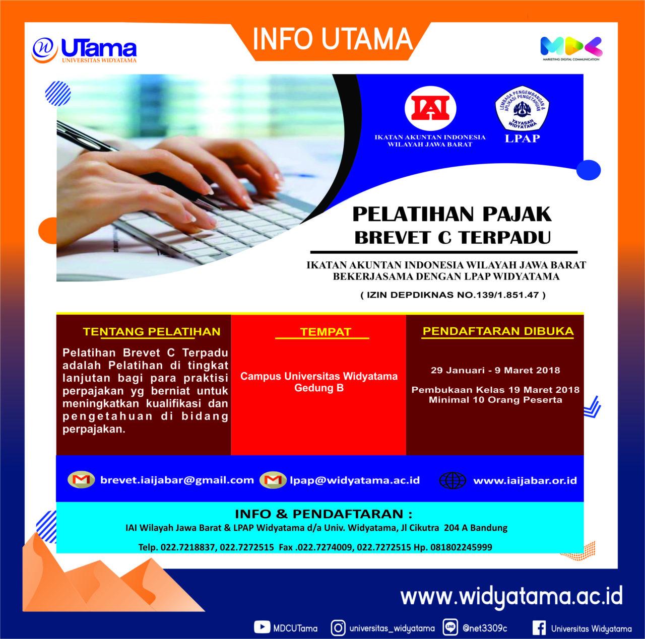 Universitas Widyatama Buka Brevet Pajak bekerjasama dengan IAI Jabar