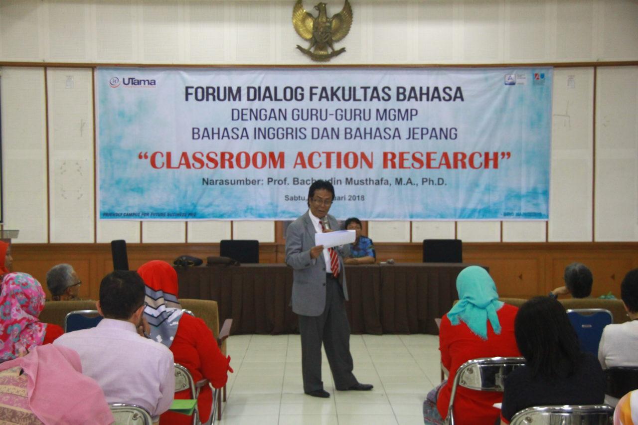 Fakultas Bahasa Universitas Widyatama Selenggarakan Forum Dialog dengan Musyawarah Guru Mata Pelajaran tingkat SMA/SMK