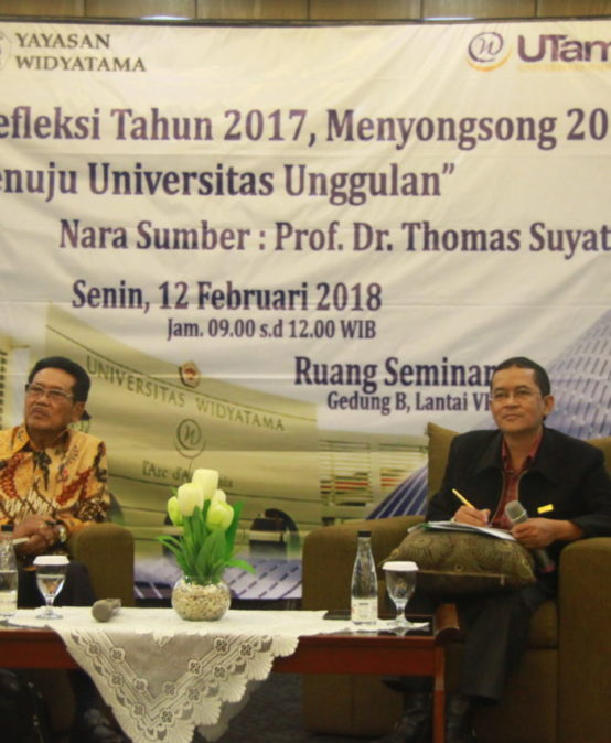 Sharing Menyongsong Tahun 2018 Bersama Prof Thomas Suyatno