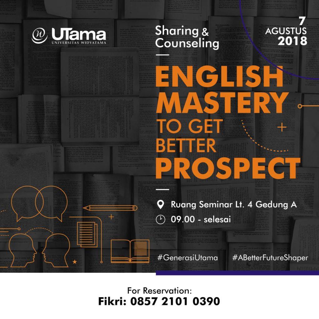 Sharing Counseling Prodi Bahasa Inggris Universitas Widyatama