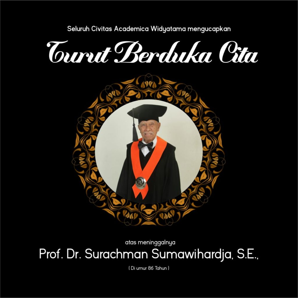 Dosen Tetap Universitas Widyatama Prof. Surachman Tutup Usia
