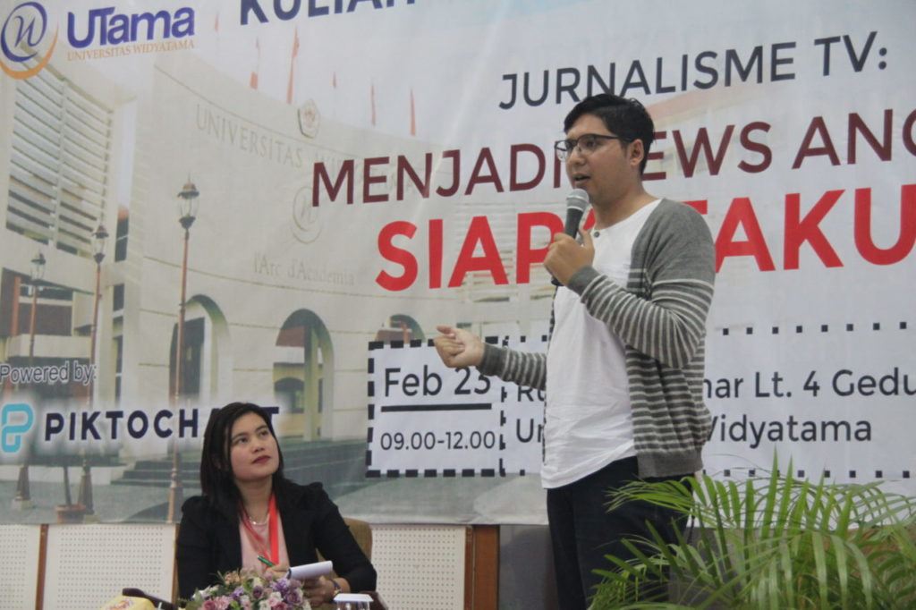 Workshop, Widyatama, Fakultas Bahasa, News Anchor