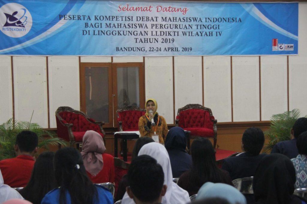 Kompetisi Debat Mahasiswa Indonesia (KDMI) Tingkat LLDIKTI Wilayah IV Tahun 2019