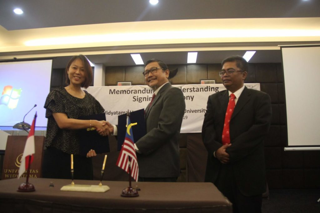 Penandatanganan MoU Antara Universitas Widyatama dengan Taylor's University Malaysia