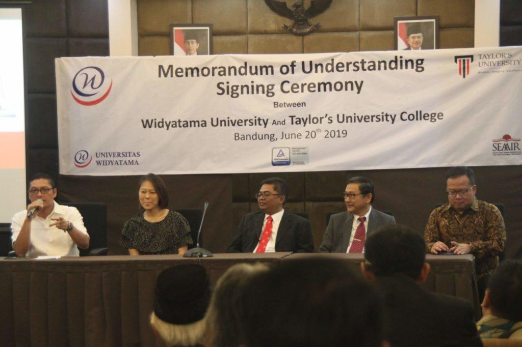 IMG 4513 1024x682 - Penandatanganan MoU Antara Universitas Widyatama dengan Taylor's University Malaysia