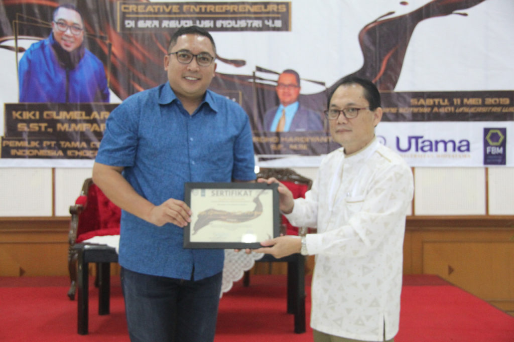 kuliah umum chocodot 1024x682 - Owner Perusahaan Coklat Terbesar di Garut Isi Kuliah Umum di Widyatama