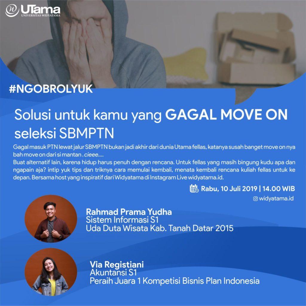 Solusi untuk kamu yang GAGAL MOVE ON  seleksi SBMPTN
