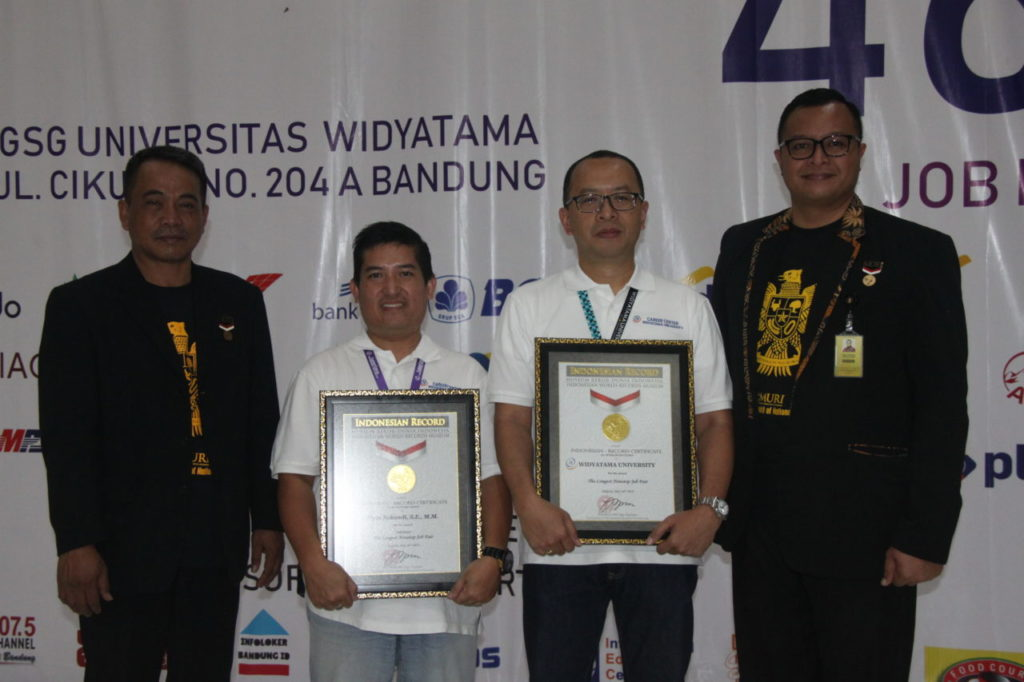 Official! Widyatama University Broke the MURI Record for conducting 46-hour-nonstop Job Fair