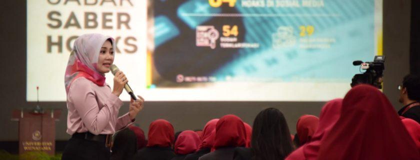 Kuliah Umum Widyatama, Atalia Kamil : Perempuan Harus Menjadi Garda Terdepan Tangkal Hoaxs