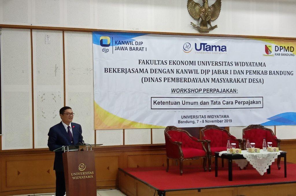 Universitas Widyatama: Agar Melek Pajak Pengurus BUMDes Di Kabupaten Bandung Mengikuti Pelatihan Perpajakan