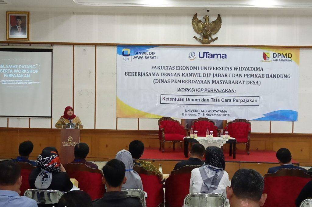 Bumdes3 1024x681 - Universitas Widyatama: Agar Melek Pajak Pengurus BUMDes Di Kabupaten Bandung Mengikuti Pelatihan Perpajakan