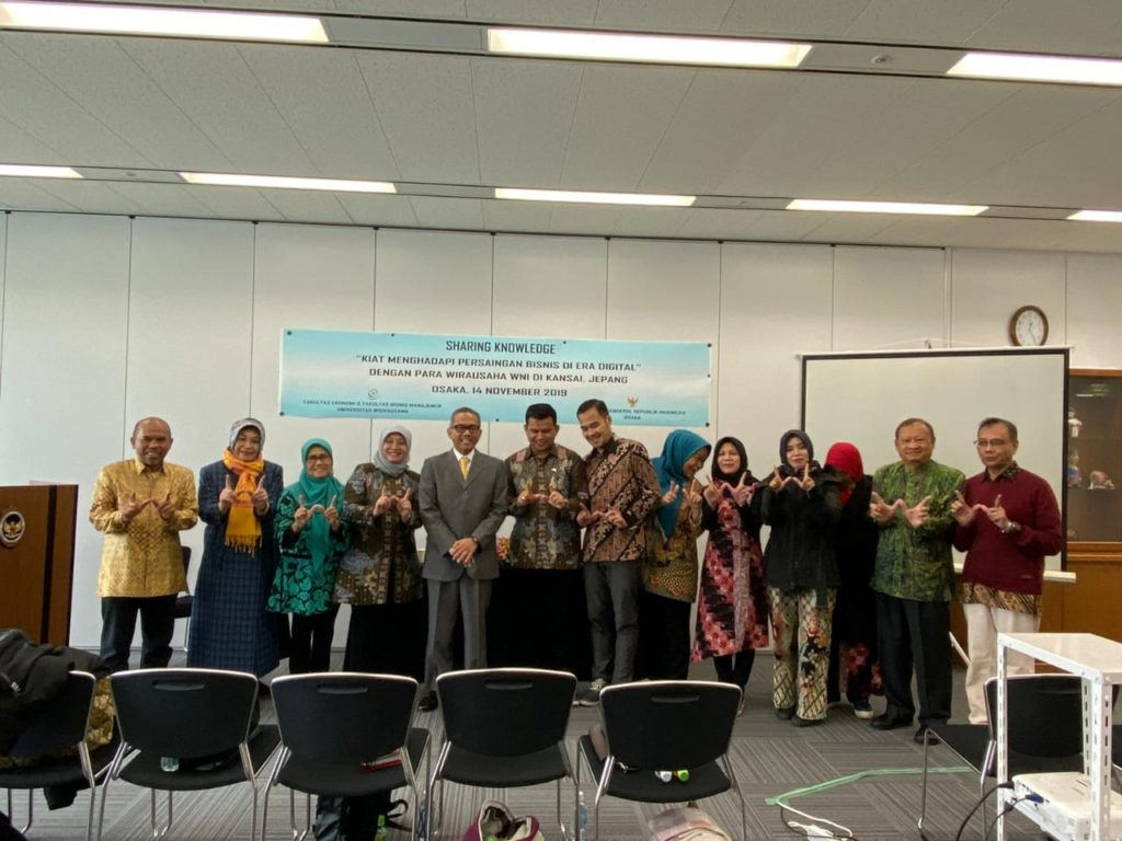 Fakultas Ekonomi Universitas Widyatama Jepang 1 1024x768 - Community Service at Widyatama University Knowledge Sharing Indonesian Citizens in Japan