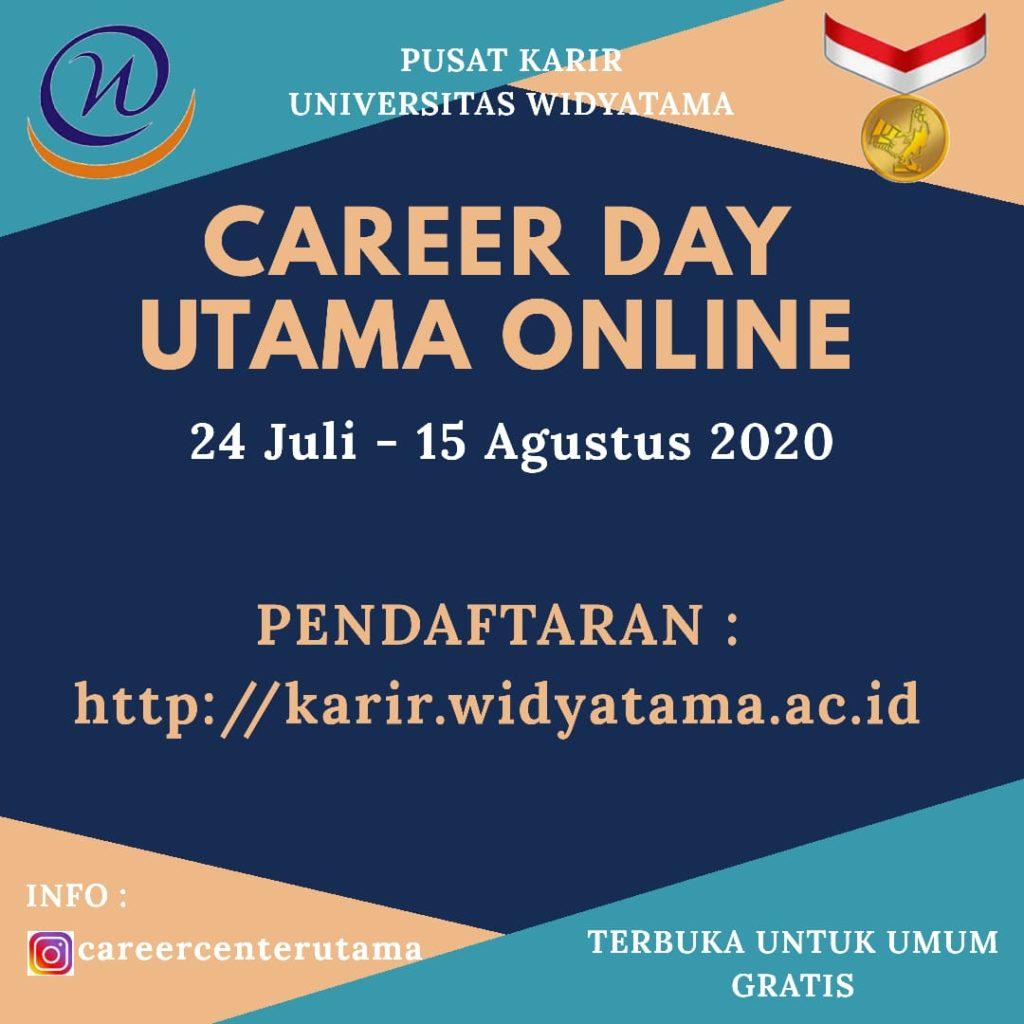 Pekan Ini Universitas Widyatama Akan Menggelar Jobfair Online Terlama Se-Indonesia