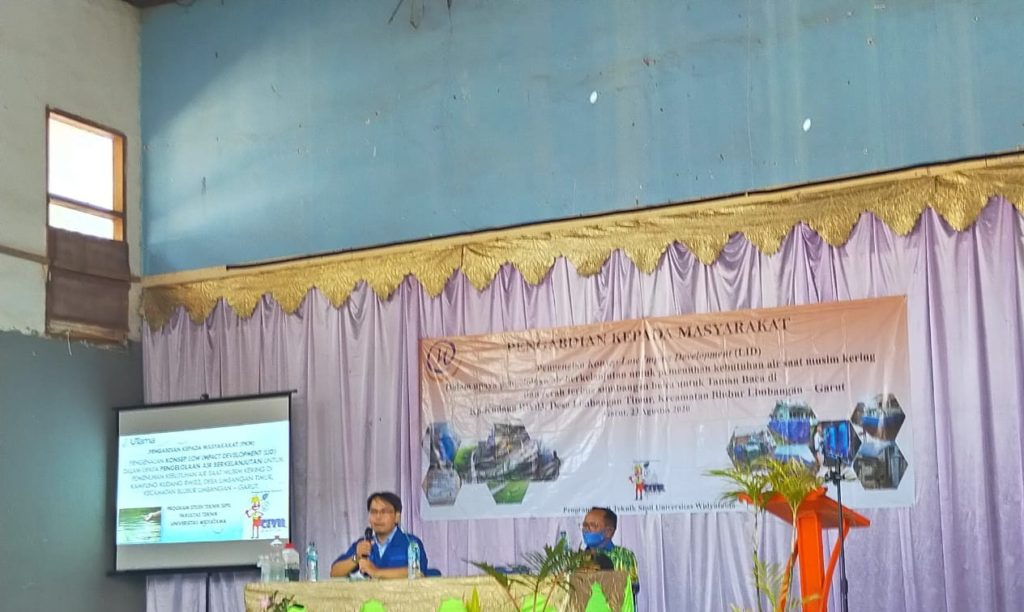 Universitas Widyatama Mensosialisasikan Teknologi RWH Dan Eco Garden Dalam Penanggulangan Masalah Kekeringan