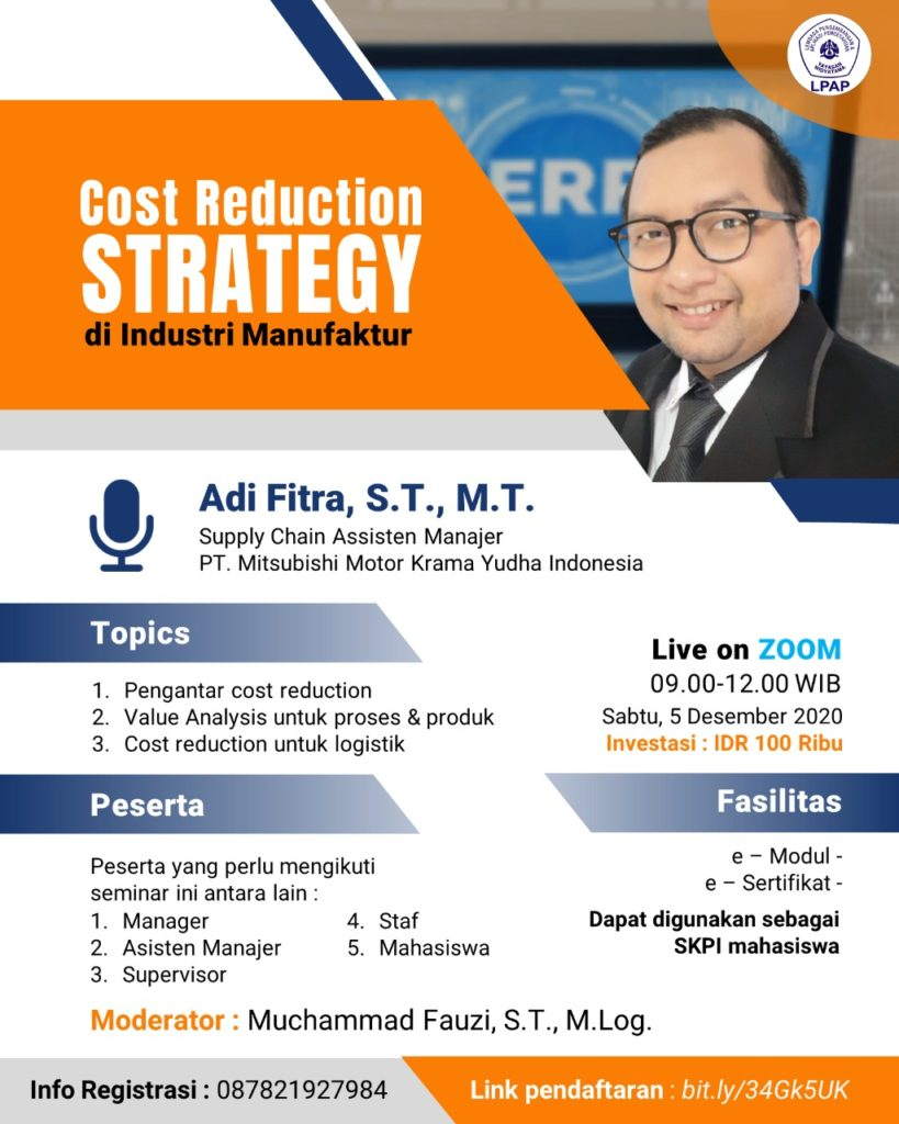 Cost Reduction Strategy di Industri Manufaktur