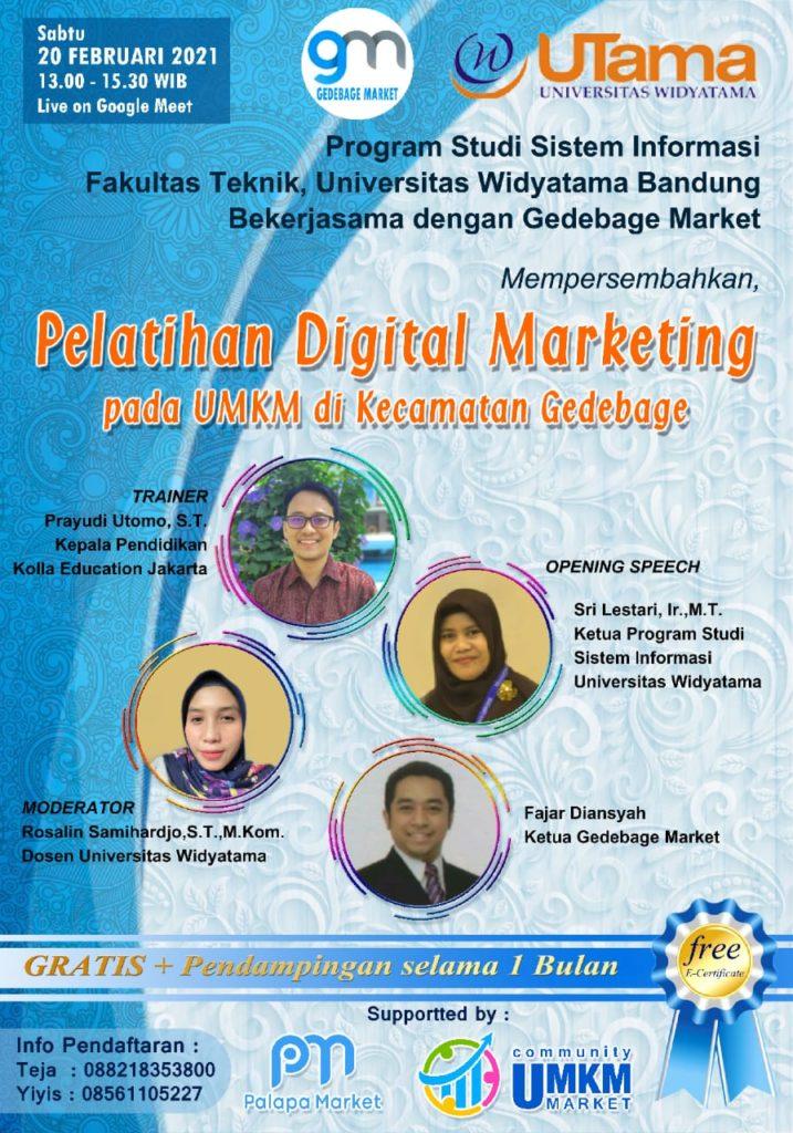 Pelatihan Digital Marketing pada UMKM di Kecamatan Gedebage