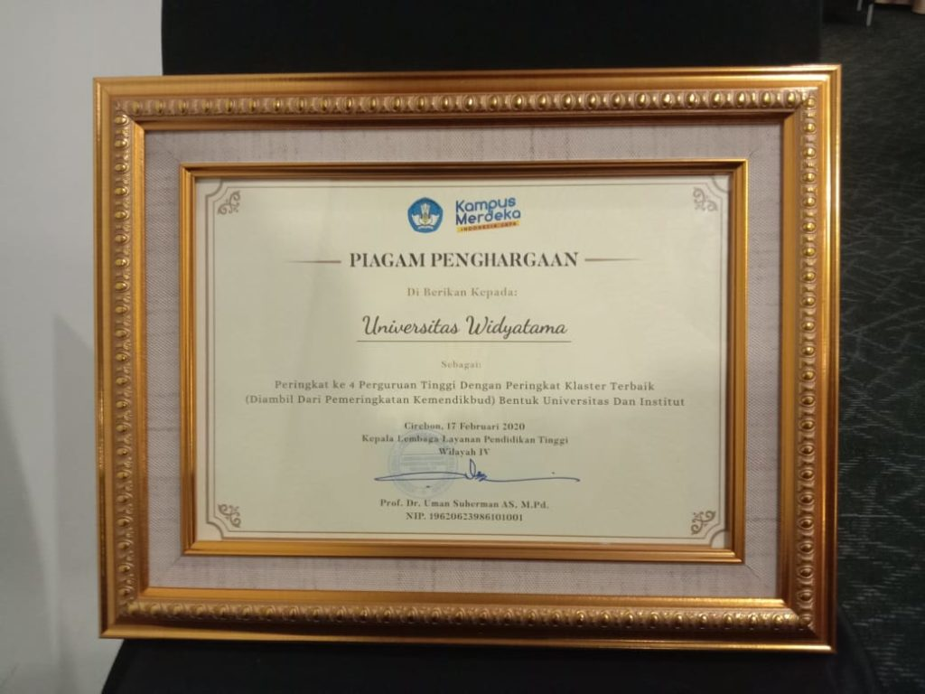 WhatsApp Image 2021 02 18 at 08.33.14 1024x768 - Berkat Kerja Keras Universitas Widyatama Kembali Menyabet Penghargaan Kampus Ternama