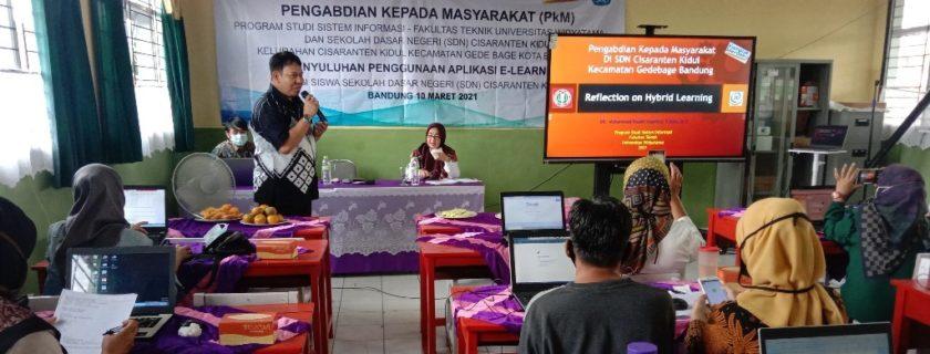PkM Fakultas Teknik UTama Menyediakan Platform Pembelajaran Daring Bagi SDN 190 Cisaranten Kidul