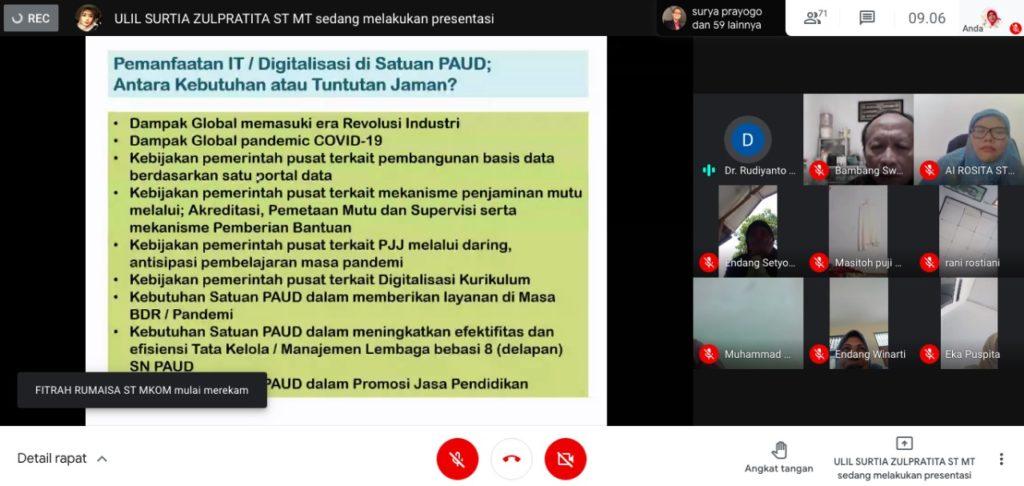Program Studi Prodi Teknik Informatika Universitas Widyatama UTama Bandung menggelar kegiatan Pengabdian Kepada Masyarakat PkM 1 1 1024x486 - Bantu Mengembangkan Manajemen Mutu PAUD di Jabar Berbasis IT Prodi Teknik Informatika UTama Adakan Webinar
