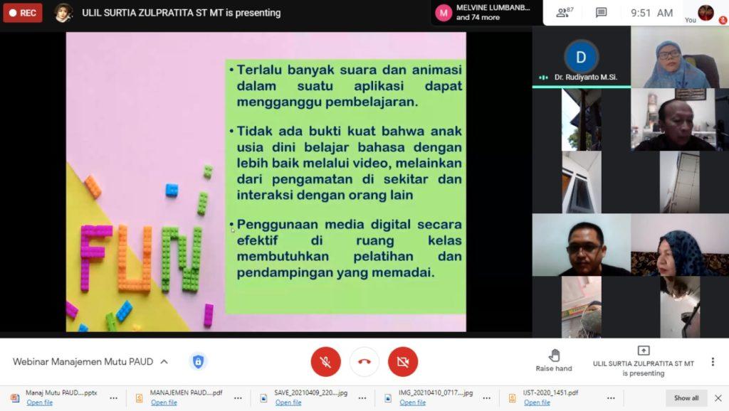 Program Studi Prodi Teknik Informatika Universitas Widyatama UTama Bandung menggelar kegiatan Pengabdian Kepada Masyarakat PkM 2 1024x578 - Bantu Mengembangkan Manajemen Mutu PAUD di Jabar Berbasis IT Prodi Teknik Informatika UTama Adakan Webinar
