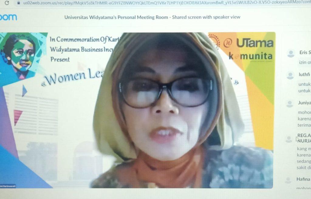 """WIBI Webinar Hari Kartini 2021 Universitas Widyatama 2 1024x658 - Peringati Hari Kartini Webinar """"Women Leaders And Entrepreneur"""" WIBI Merangsang Lebih Banyak Pengusaha Wanita Mandiri"""
