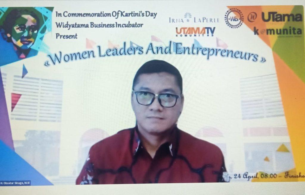 """WIBI Webinar Hari Kartini 2021 Universitas Widyatama 3 1024x656 - Peringati Hari Kartini Webinar """"Women Leaders And Entrepreneur"""" WIBI Merangsang Lebih Banyak Pengusaha Wanita Mandiri"""