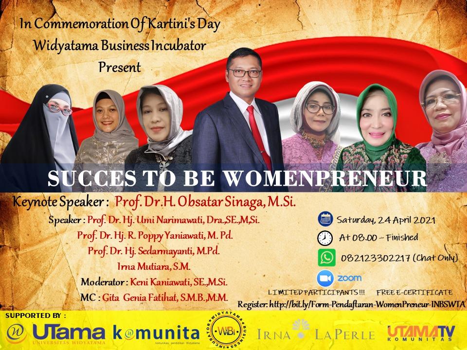 """Peringati Hari Kartini Webinar """"Women Leaders And Entrepreneur"""" WIBI Merangsang Lebih Banyak Pengusaha Wanita Mandiri"""