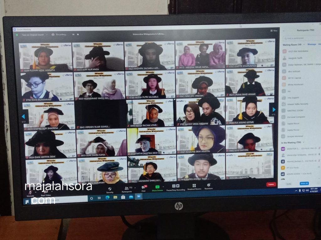 Wisuda Universitas Widyatama 2021 Virtual Wisuda 4 1024x768 - 1723 Mahasiswa Universitas Widyatama Diwisuda Secara Khidmat Di Tengah Pandemi