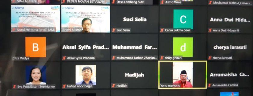 Soroti Masalah Pemahaman Bahasa dan Digital Marketing Pelaku UMKM Di Lembang Universitas Widyatama Hadir Lakukan PKM