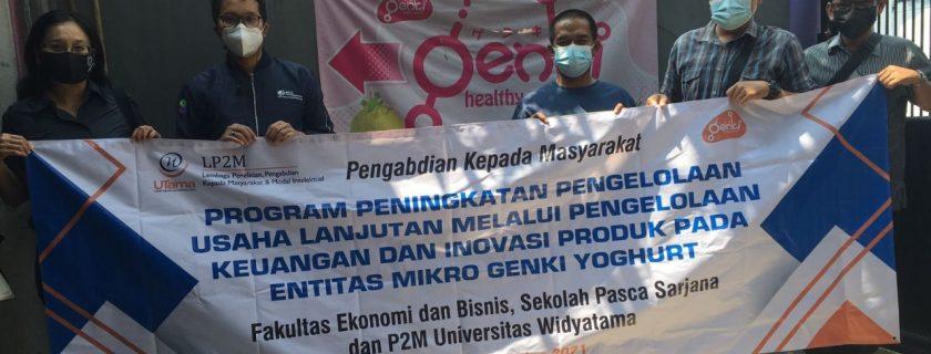 Abdimas Dosen UTama FEB Berikan Solusi Di Kala Pandemi Kepada UMKM Genki Yogurt