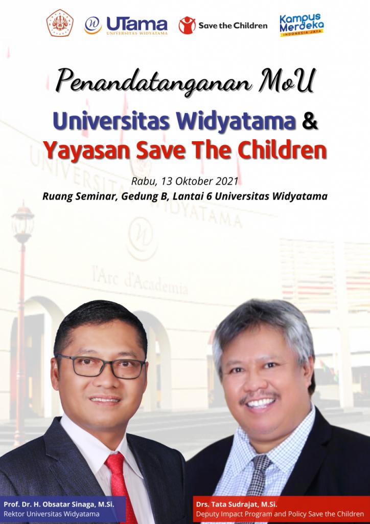 Penandatanganan MoU Universitas Widyatama & Yayasan Save the Children