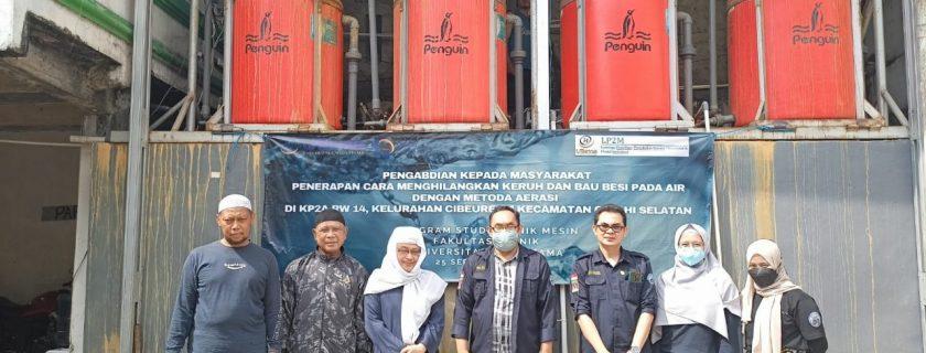 Pelatihan Sistem Aerasi Dari Dosen Dan Mahasiswa Teknik UTama, Bantu Masyarakat Atasi Air Bau Dan Keruh